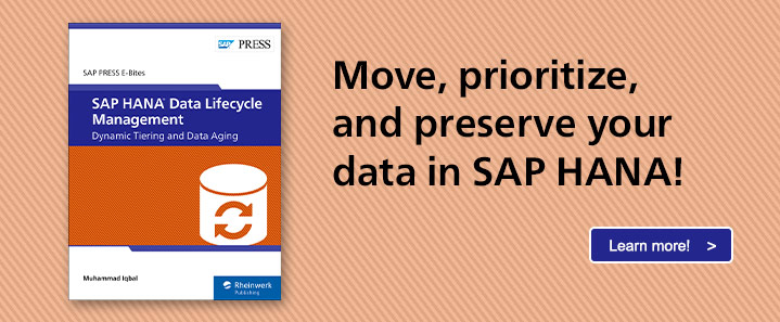 SAP HANA Data Lifecycle Management