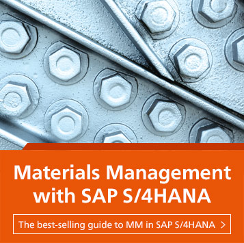 Materials Management with SAP S/4HANA | SAP PRESS Books and E-Books