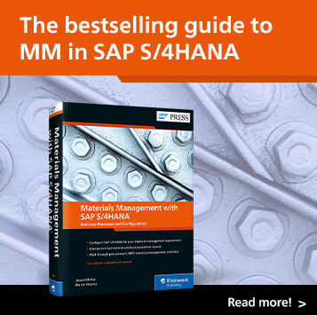 Materials Management with SAP S/4HANA | SAP PRESS Books and E-Books