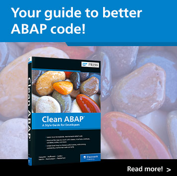 Clean ABAP: A Style Guide for Developers   SAP PRESS Books and E-Books