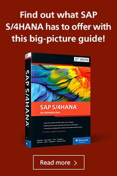 SAP S/4HANA: An Introduction | SAP PRESS Books and E-Books