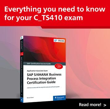 SAP S/4HANA Business Process Integration Exam Study Guide | SAP PRESS Books and E-Books