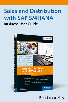 Sales and Distribution with SAP S/4HANA: Business User Guide | SAP PRESS Books and E-Books