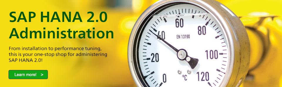 SAP HANA 2.0 Administration