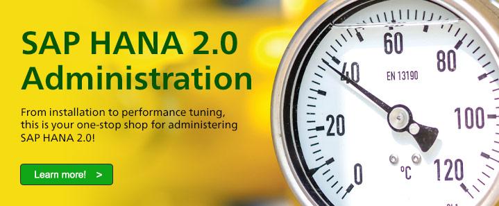 SAP HANA 2.0 Admin