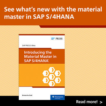 Introducing the Material Master in SAP S/4HANA | SAP PRESS Books and E-Books