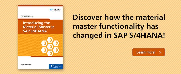 Material Master in SAP S/4HANA