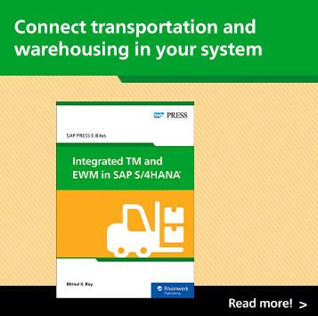 Integrated TM and EWM in SAP S/4HANA | SAP PRESS Books and E-Books