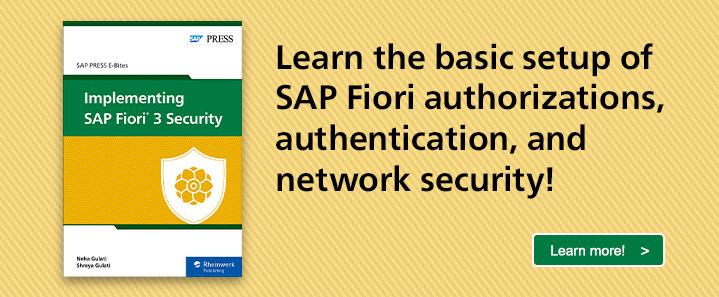 SAP Fiori 3 Security