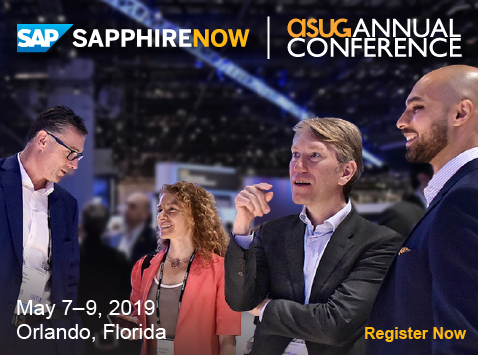 SAPPHIRE NOW and ASUG Annual Conference 2019