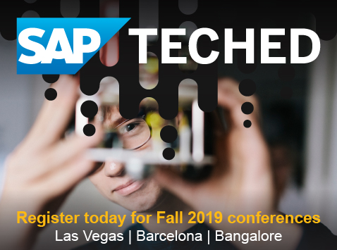 SAP TechEd 2019 Global Events