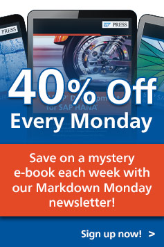 Markdown Monday Newsletter l SAP PRESS Books and E-Books