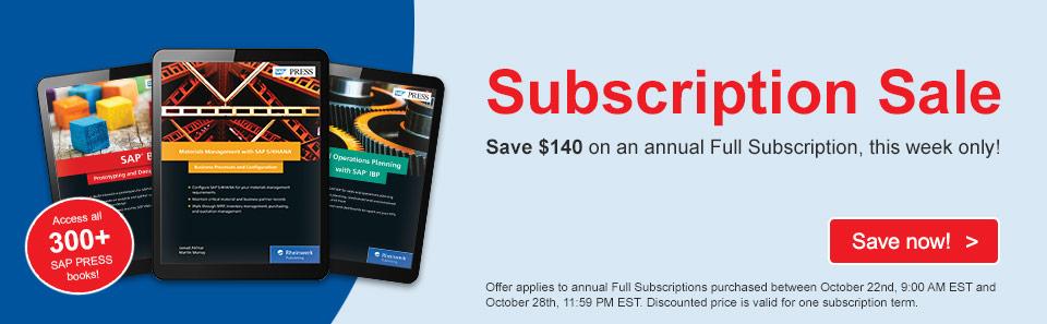 Subscription Sale