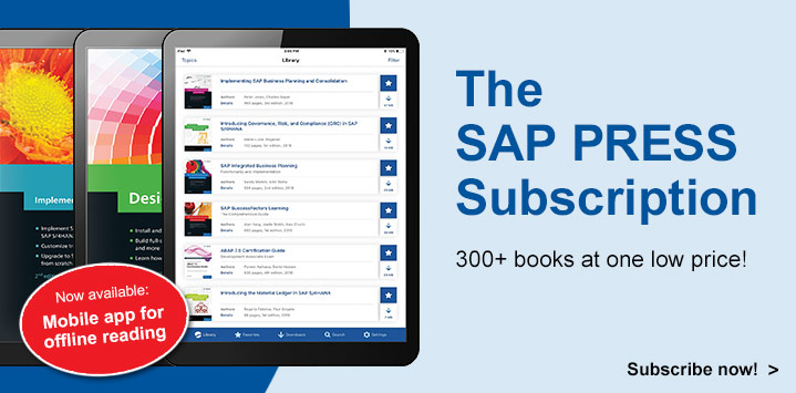 SAP PRESS Subscription l SAP PRESS Books and E-Books