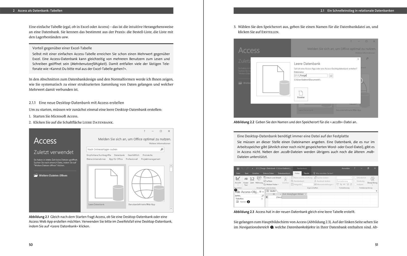 Gestaltung der Datenbank der Website