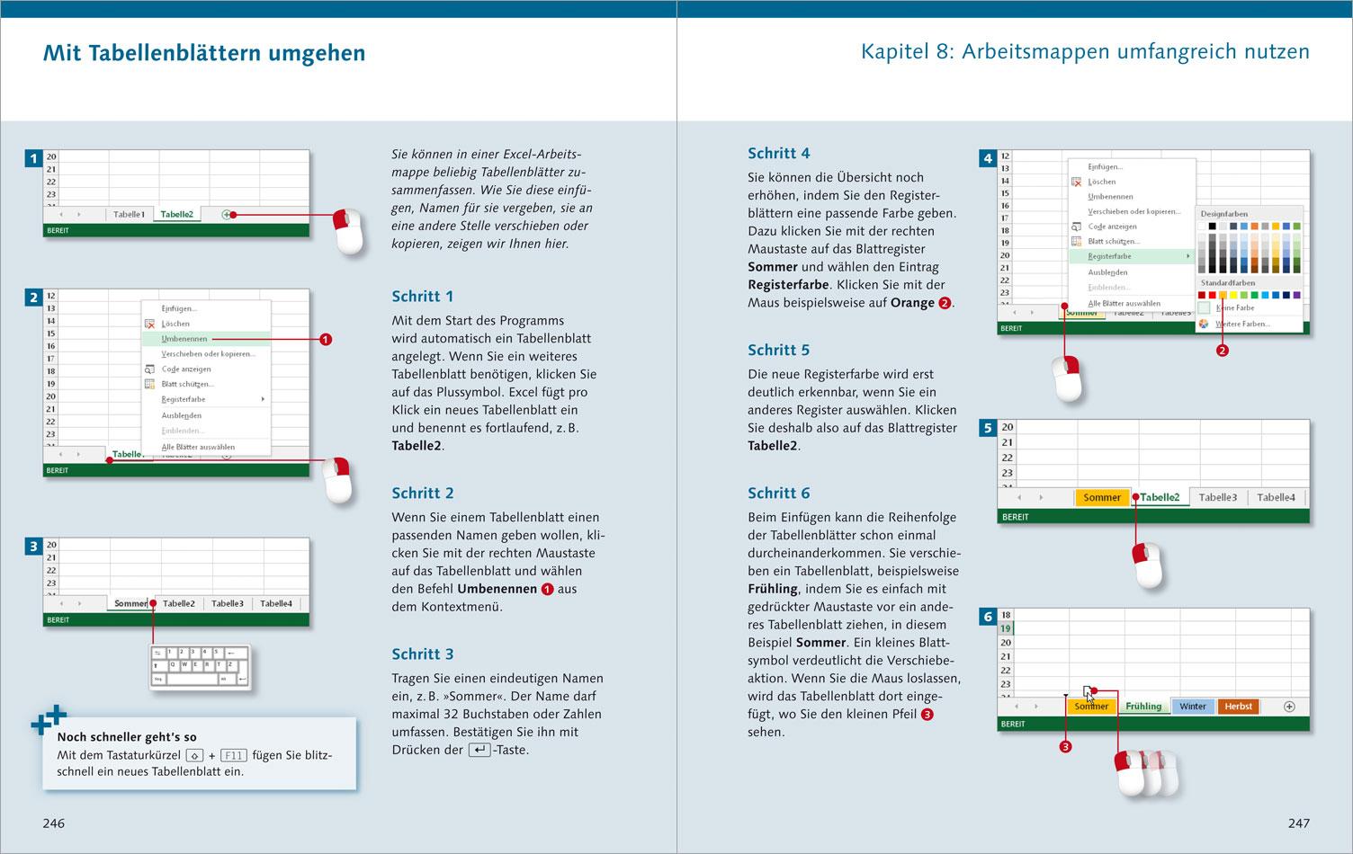 Excel 2013 – Die Anleitung in Bildern (Vierfarben)
