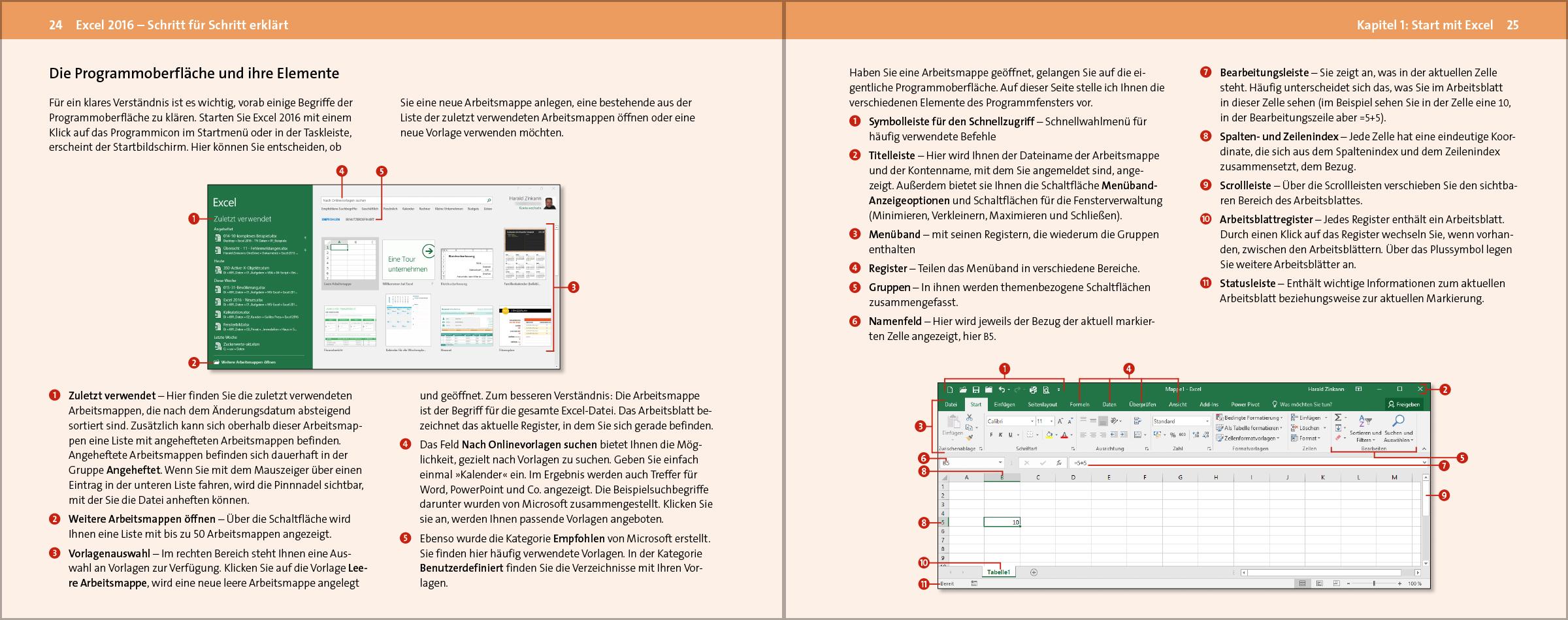 Excel 2016 – Schritt für Schritt erklärt (Vierfarben)