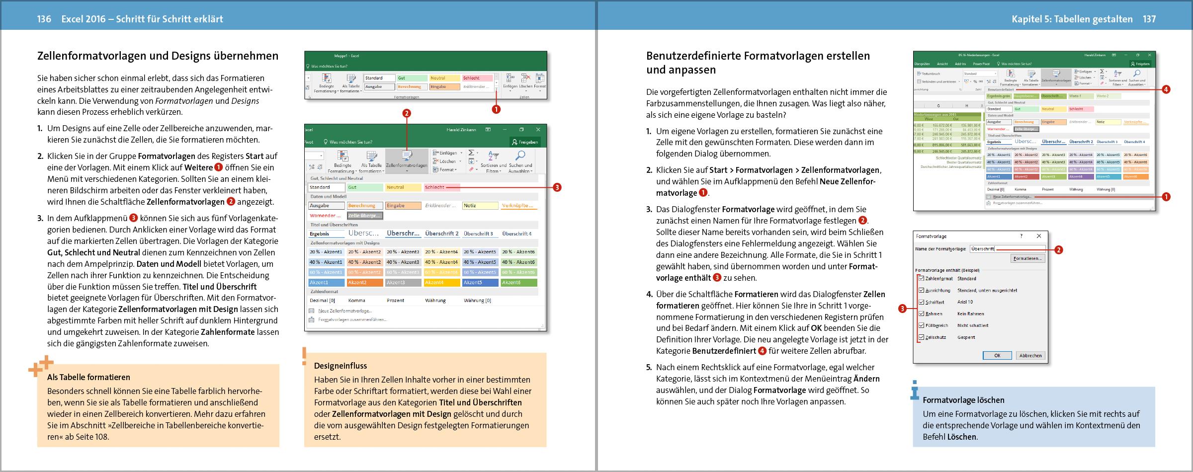 Excel 2016 Schritt Für Schritt Erklärt Vierfarben