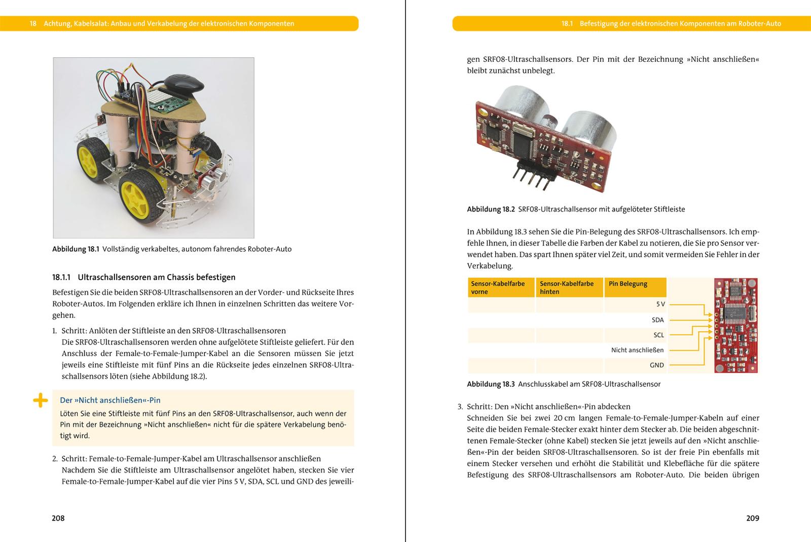 Roboter-Autos mit dem Raspberry Pi – Planen, bauen, programmieren ...
