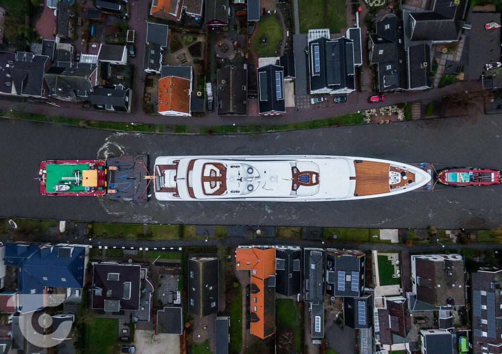 Feadship motor yacht Arrow preparing for sea trials 4