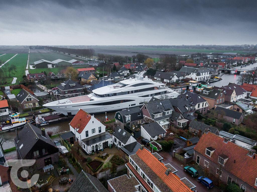 Feadship motor yacht Arrow preparing for sea trials 3
