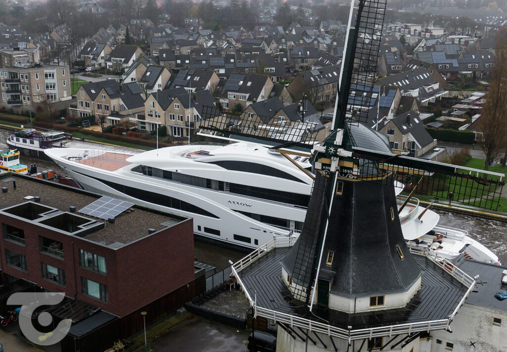 Feadship motor yacht Arrow preparing for sea trials 1