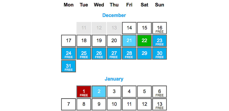 Christmas Offer Calendar