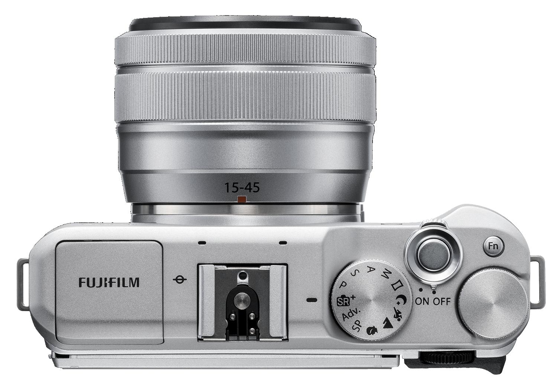 Fujifilm X-A5 top dials silver