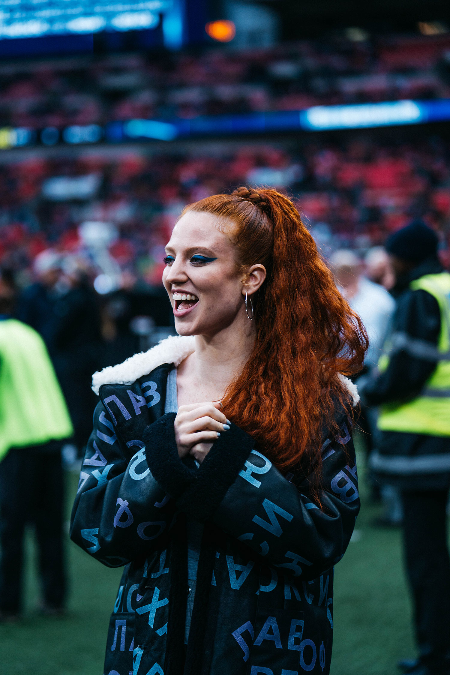 Jess Glynne at 2018 NFL