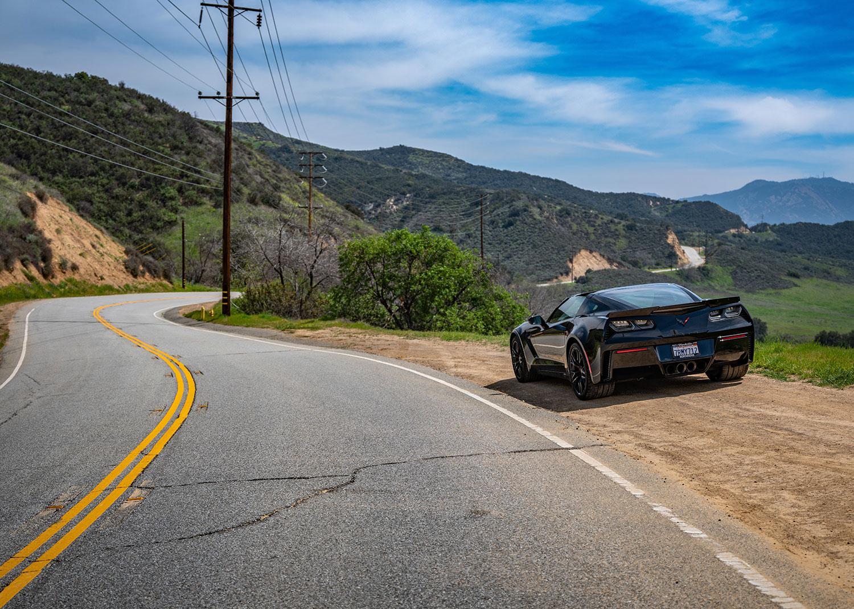 Corvette in the Malibu mountains