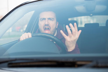 Angry male driver