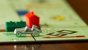 Car on monopoly board game