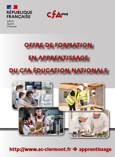 Offre de formation du CFA Education Nationale