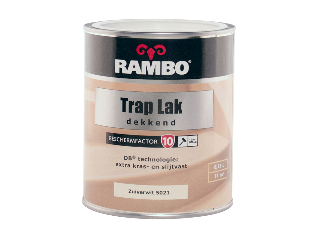 Zeer Rambo trap lak zuiverwit 5021 0,75L - Handig.nl NY41