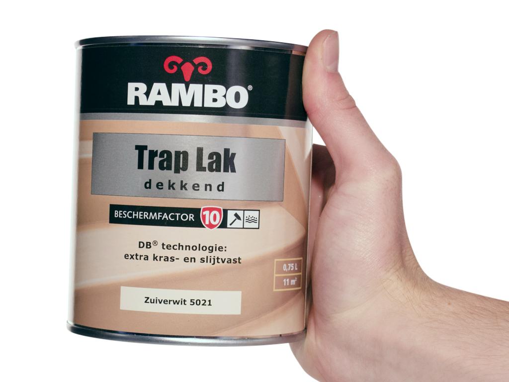 Magnifiek Rambo trap lak zuiverwit 5021 0,75L - Handig.nl SC33