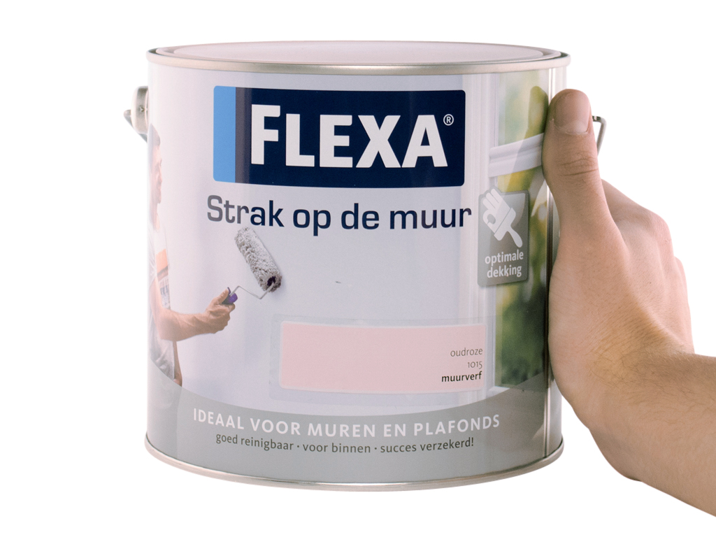 Favoriete Flexa strak op de muur muurverf 1015 oudroze 2,5L - Handig.nl WY61