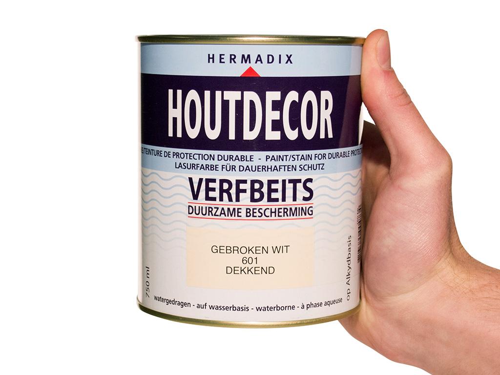 Hermadix Houtdecor Kleuren.Hermadix Houtdecor Verfbeits Gebroken Wit 601 0 75l Handig Nl