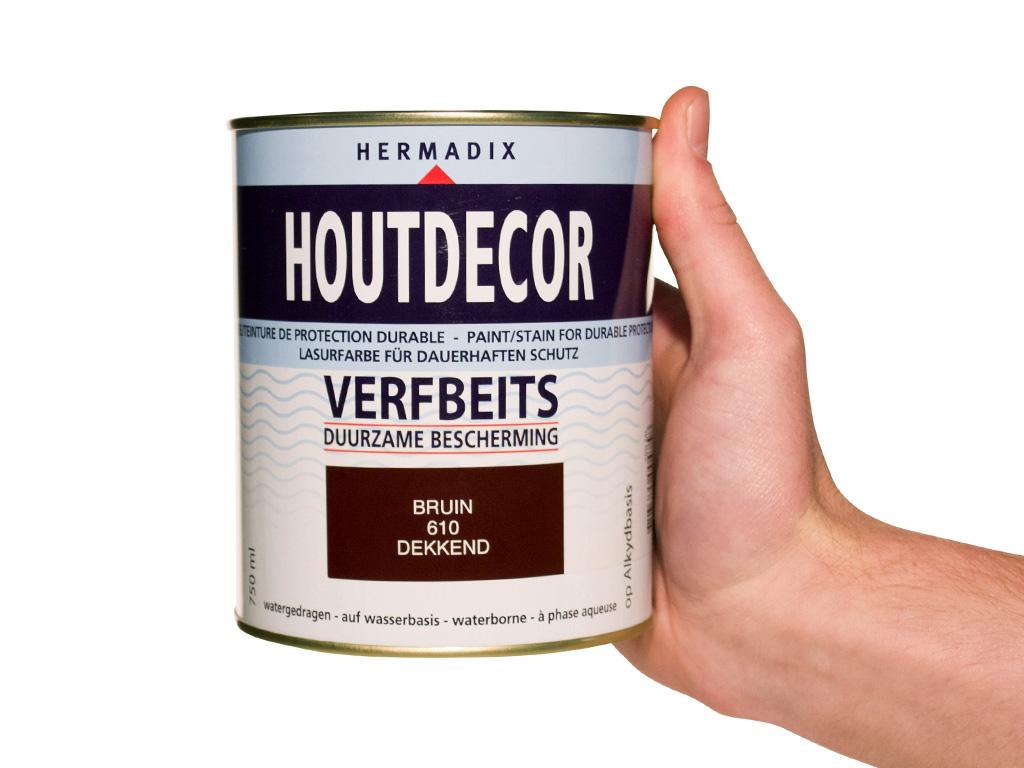 Hermadix Houtdecor Kleuren.Hermadix Houtdecor Verfbeits Bruin 610 0 75l Handig Nl