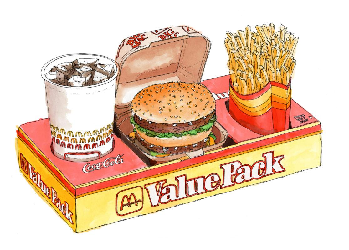 Burgermat Show at Beach London — Handsome Frank Illustration Agency