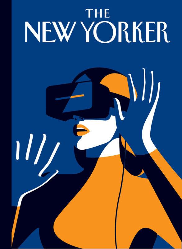 """A principios de este mes, Malika Favre tuvo el honor de contribuir con su 5ª cobertura de New Yorker (6ª si cuenta la infame Hillary no utilizada). Pensamos que sería interesante mostrar algunos de sus conceptos desagradables y sin usar, y le pedimos a Malika que compartiera su proceso: """"Hace un mes, Francoise Mouly, directora de arte de las portadas de The New Yorker, me pidió que trabajara en ideas para un próximo número sobre Women in the tech industry. El brief siempre fue muy abierto, pero también se convirtió en un verdadero desafío tan pronto como comencé Investigué el tema. Repasé todos los artículos que salieron recientemente sobre las mujeres que comparten su experiencia trabajando en la industria tecnológica, comenzando con Susan Fowler describiendo su tiempo en Uber y el impactante manifiesto de James Damore. Mientras más leía, más deprimido estaba. Me estaba acercando a la brecha de género en esa industria y cuán arcaica era toda la situación. Tuve la suerte en mi carrera como diseñadora de nunca trabajar en un entorno, pero desafortunadamente siento que fui la excepción y no la regla. Empecé a pensar en el acoso sexual y en entornos más generalmente tóxicos para las mujeres, pero muy rápidamente decidí que lo que los mundos necesitan ahora es algo positivo y progresivo en lugar de una imagen que muestre el estado actual de la industria. Mi anterior portada de NY sobre mujeres cirujano fue un excelente ejemplo del impacto que una imagen positiva puede tener en la gente que está afuera. Así que comencé a esbozar varias ideas, la mayoría de las cuales mostraban a las mujeres como el héroe central, pero siempre manteniendo una segunda capa de narración. La mujer con gafas AR, por ejemplo, se muestra casi como un superhéroe, pero también se coloca en una posición casi defensiva, la chica codificadora sentada en la oscuridad en otro boceto está en el centro de la historia, pero el estado general también transmite una ligera sensación de soledad. El último bo"""