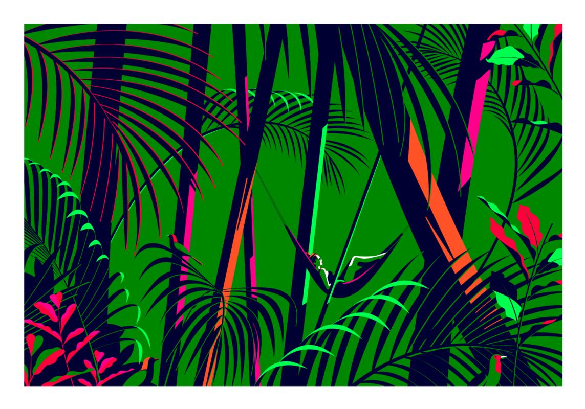 """""""Siempre Playa"""" fue un proyecto de residencia comisariado por el estudio de diseño Futura en la ciudad de México el pasado junio. El concepto fue simple: enviar 4 ilustradores, incluida nuestra propia Malika Favre, a Playa del Carmen durante una semana para inspirarse y crear una serie de obras de """"carta blanca"""" inspiradas en México y la costa tropical. Malika compartió con nosotros sus pensamientos sobre el viaje y la experiencia: """"Lo que más me impactó fue la intensidad de los colores que me rodeaban y esta increíble y lujosa vegetación, y de inmediato supe que quería que la naturaleza tuviera un papel en mi próxima serie. una semana explorando mi entorno con los otros 3 ilustradores, Violeta, Kitty y Catalina, pero también Glenda estaba documentando el viaje. Más que el lugar en sí, decidí ilustrar la experiencia humana y dedicar cada pieza a una de las chicas que pasé ese semana con """". El trabajo resultante es una serie de cuatro piezas tropicales, inspiradas en los lugares que vio y las cosas que hicieron, pero sobre todo cuando ella los describe """"las mujeres increíbles que conocí"""". Las impresiones ahora están disponibles como impresiones de edición limitada aquí."""