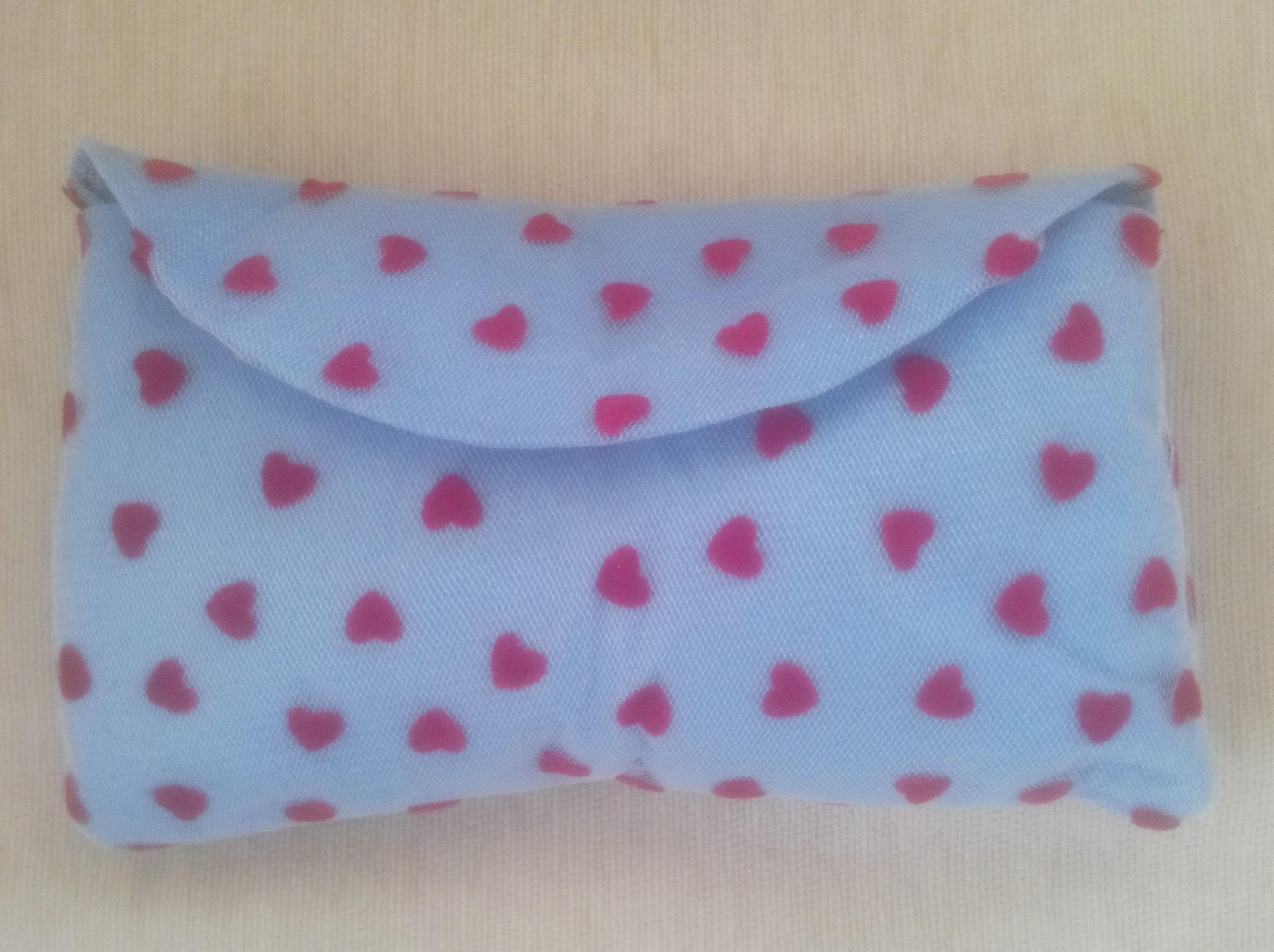 mavi keçe cüzdan