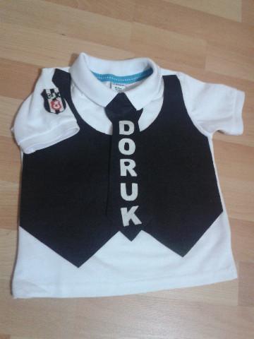 BJK Yelekli Kravatlı Tişört
