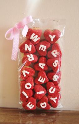 sevgili için hediyelik kurabiyeler