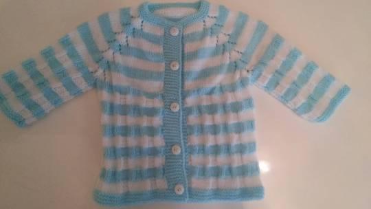 Mavi Bebek Hırkası 9-12 ay