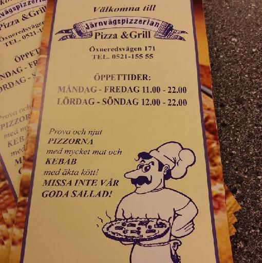 Järnvägs pizzerian i öxnered