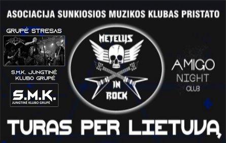 Alytuje skambės grupės Stresas dainos bei sunkiojo roko šlageriai