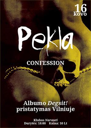 PEKLA pristatys debiutinį albumą Degsit! Vilniuje
