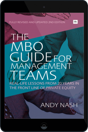 Cover of The MBO Guide for Management Teams on Tablet by Andy Nash