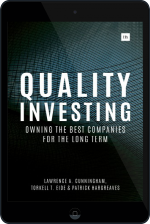 Cover of Quality Investing on Tablet by Lawrence A. Cunningham, Torkell T. Eide and Patrick Hargreaves